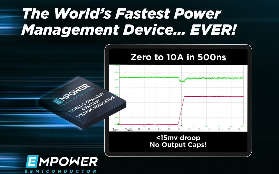 Empower Semiconductor Achieves the World's Fastest Transient Response in a Power Management Device…Ever!
